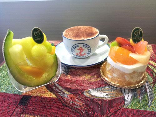 タカノフルーツパーラーのケーキ