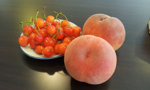 桃&さくらんぼ