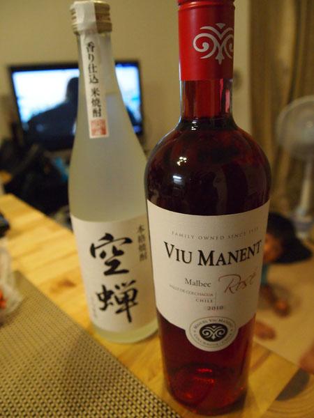 ワイン&焼酎